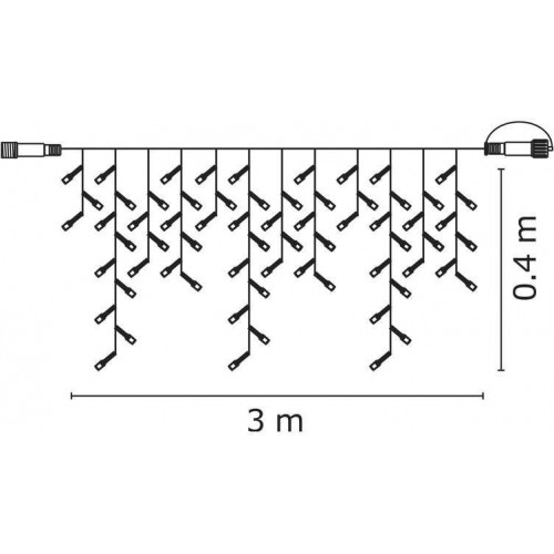 Profi LED spojovací řetěz bílý – krápníky, 3m, studená bílá