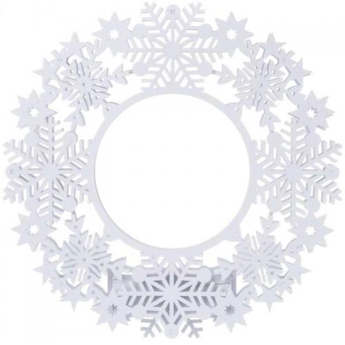 LED věnec, 2×AA, IP20, teplá bílá, časovač