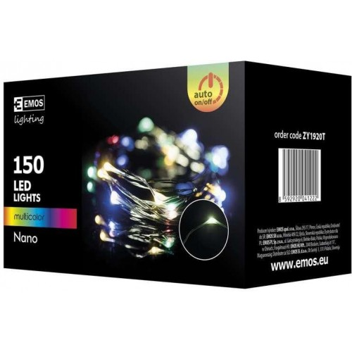 150 LED řetěz zelený nano, 15m, IP44, multicolor, časovač