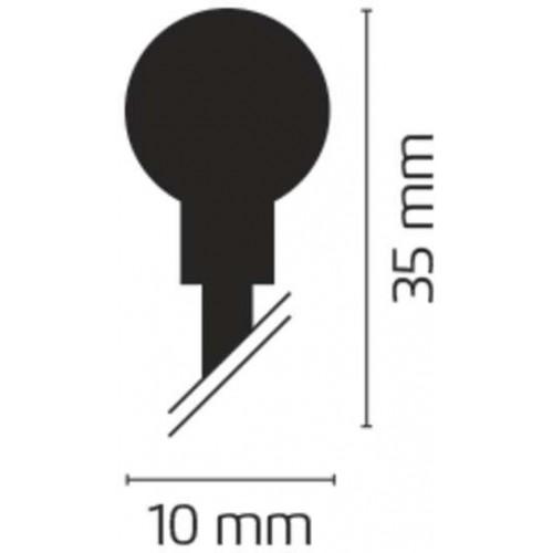 80 LED řetěz – kuličky, 8m, IP44, studená bílá, programy