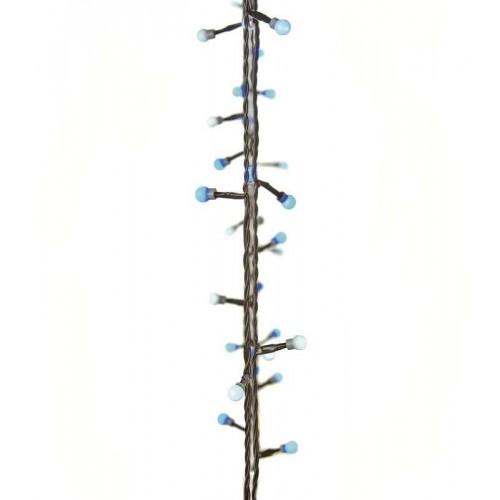 40 LED světelný řetěz – kuličky, 4m, modrá/bílá, časovač