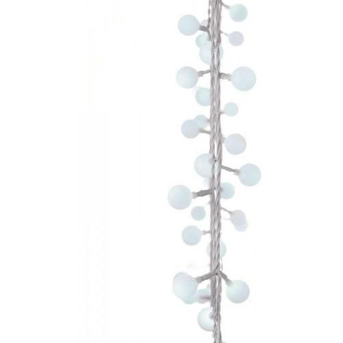 40 LED světelný řetěz – kuličky 2,5cm, 4m, stud. b., časovač