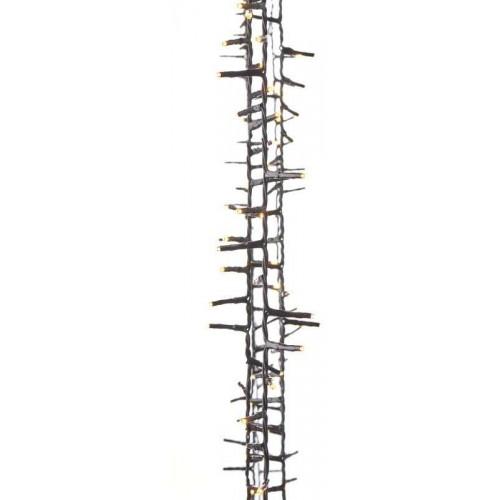 400 LED řetěz – ježek, 8m, jantarová, časovač