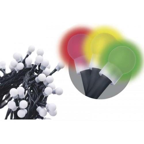 50 LED řetěz – kuličky, 2,5m, IP20, multicolor