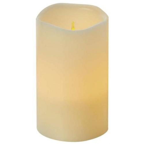 LED dekorace – svíčka, vosková, 12,5cm, 3×AAAm časovač