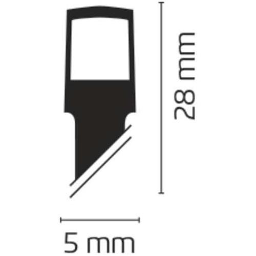 40 LED řetěz, 3×AA, 2,8m, IP44, teplá bílá, časovač