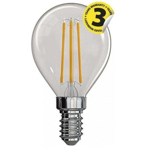 LED žárovka Filament Mini Globe 4W E14 teplá bílá