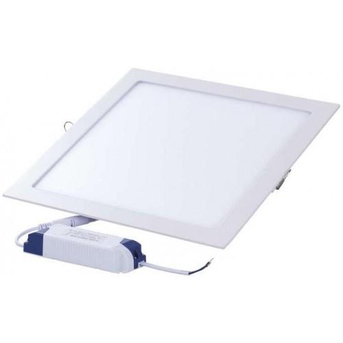 LED panel 220×220, čtvercový vestavný bílý, 18W neutrální b.