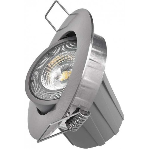 LED bodové svítidlo Exclusive stříbrné, 8W neutrální bílá