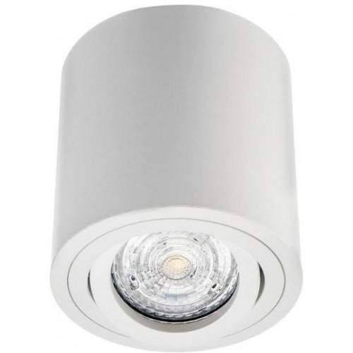 Podhledové přisazené bodové svítidlo kulaté VENICE 1xGU10 bílá matná