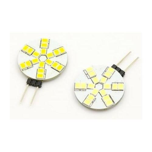 LED žárovka 3W 18xSMD2835 G4 350lm 12V DC STUDENÁ