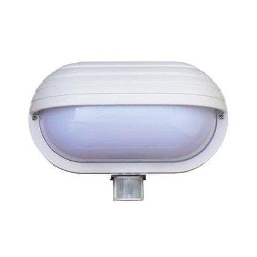 Svítidlo nástěnné s čidlem pohybu Oval PIR-Micro, bílé