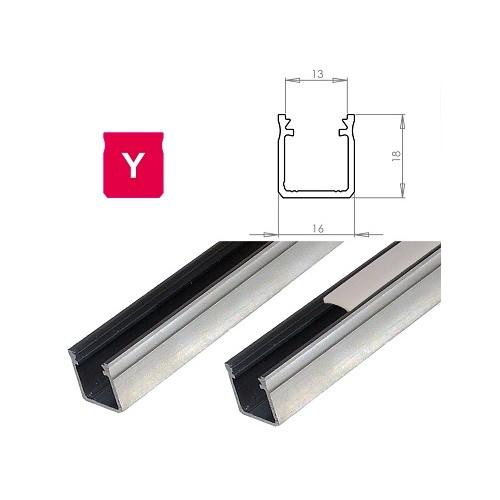 Hliníkový profil LUMINES Y 2m pro LED pásky, hliník