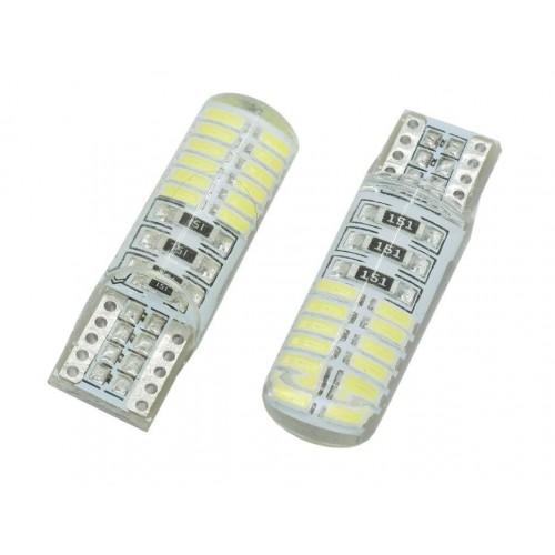 LED auto žárovka LED W5W T10 24 SMD 4014 Silicon