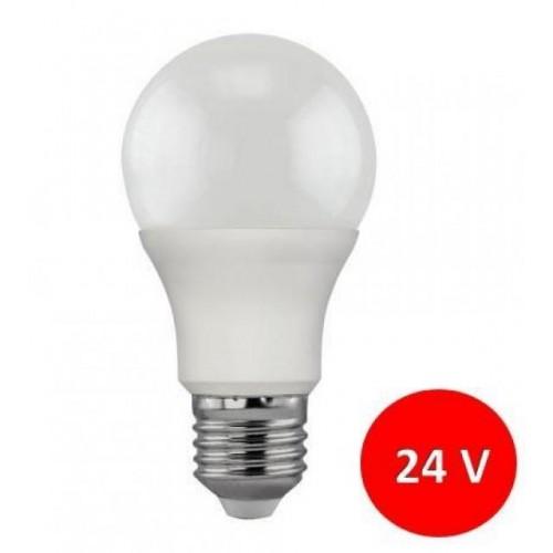 LED žárovka 24V 7W SMD2835 770lm E27 CCD TEPLÁ - NESTMÍVATELNÁ