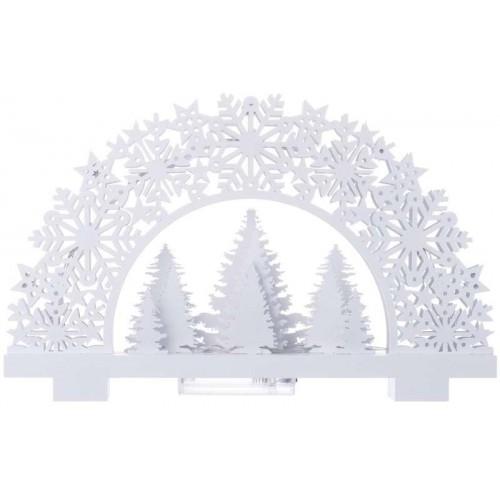 LED stojánek stromky, 2×AA, teplá bílá, časovač