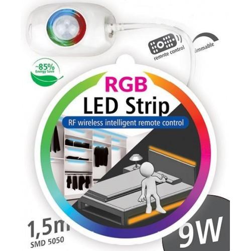 RGB LED nábytkové ( pod postel ) STMÍVATELNÉ osvětlení s pohybovým senzorem 1x1,5m 9W