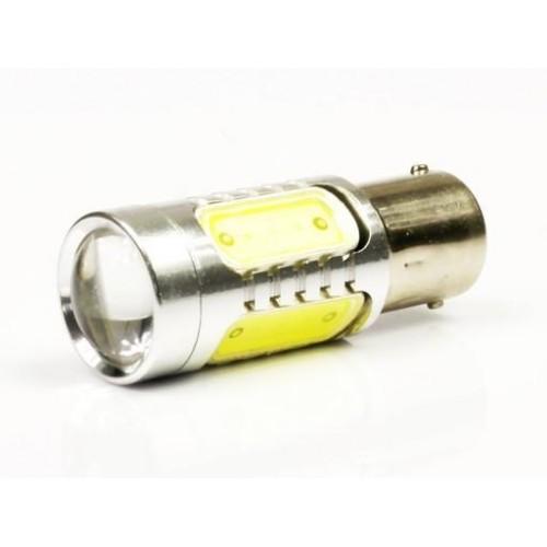 LED auto žárovka 12V BA15S 5 COB 7,5W