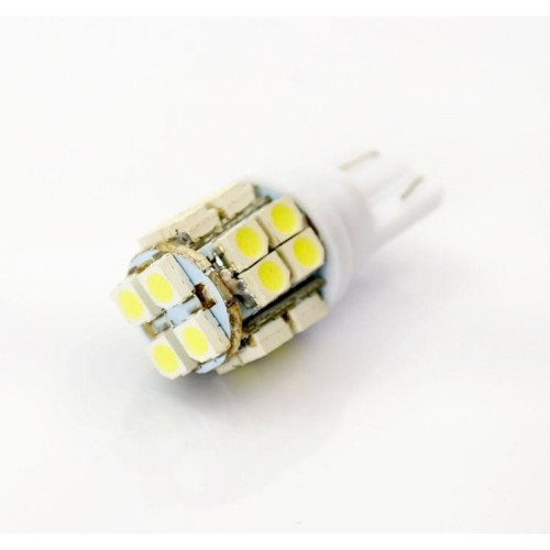 LED auto žárovka LED W5W T10 20 SMD 1210