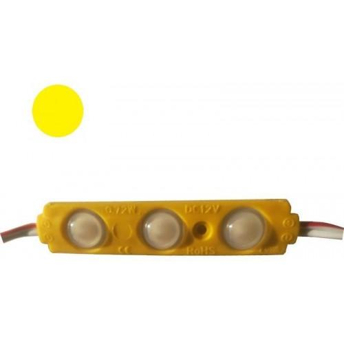 LED Modul 3xSMD 2835 0,72W 120lm 12V IP65 ŽLUTÁ