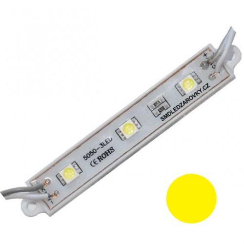 LED Modul 3xSMD 5050 0,72W 60lm 12V ŽLUTÁ