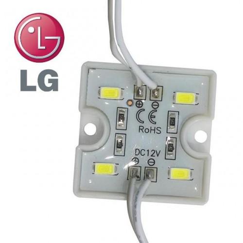 LED Modul LG 4xSMD 5730 1,28W 80lm 12V TEPLÁ BÍLÁ