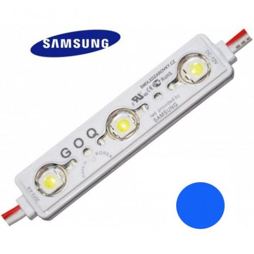 LED Modul 3xSMD 5630 SAMSUNG 1,2W 120lm 12V IP68 MODRÁ