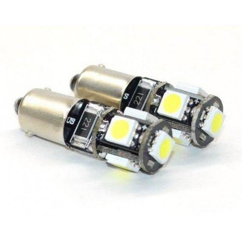 LED auto žárovka 12V LED BA9S 5SMD5050 H6W Y 1W