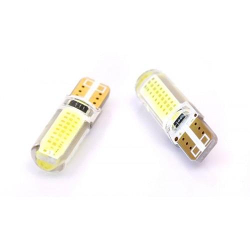 LED auto žárovka LED W5W T10 1W COB 360° Silikon