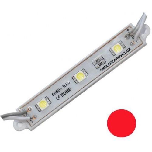 LED Modul 3xSMD 5050 0,72W 60lm 12V červená