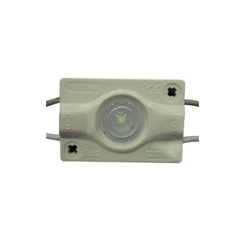 LED Modul 1xSMD3030 s čočkou 1,2W 110lm 160° 12V STUDENÁ BÍLÁ
