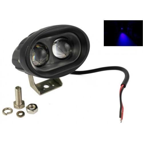 LED výstražné svítidlo 20W 2xSMD W5020 SPOT, pracovní ,voděodolné, otřesuvzdorné, modrá