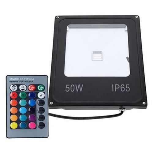 LED reflektor IR RAINBOW venkovní 50W RGB EPISTAR, černý