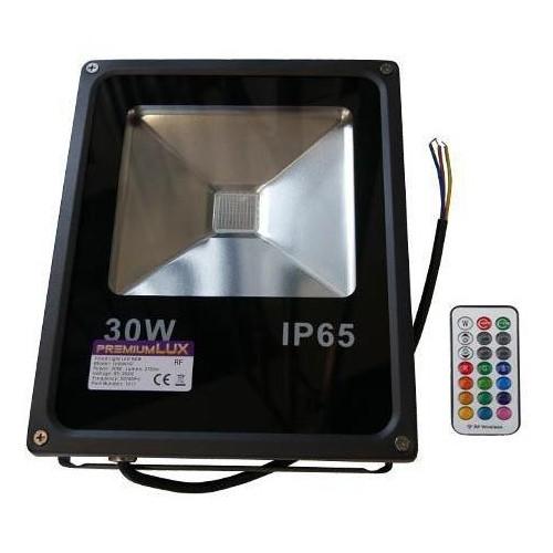 LED reflektor RF RAINBOW venkovní 30W RGB EPISTAR, černý