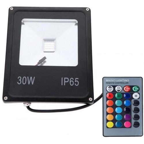 LED reflektor IR RAINBOW venkovní 30W RGB EPISTAR, černý