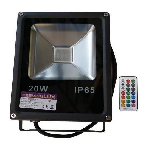 LED reflektor RF RAINBOW venkovní 20W RGB EPISTAR, černý