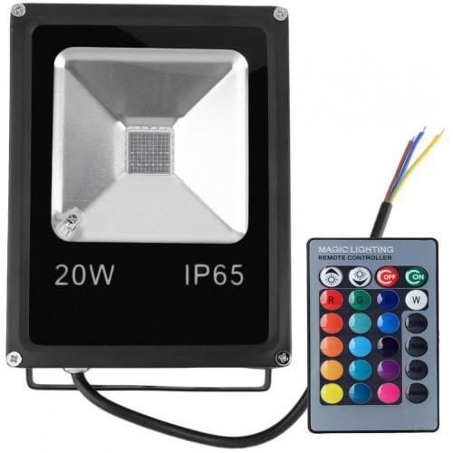 LED reflektor IR RAINBOW venkovní 20W RGB EPISTAR, černý