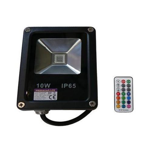 LED reflektor RF RAINBOW venkovní 10W RGB EPISTAR, černý